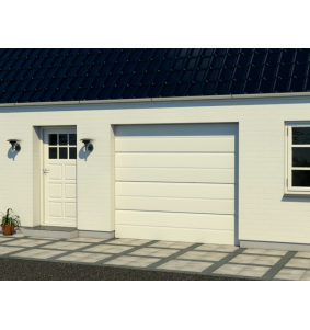Garageport 2 til 6 meter i hvid model UU