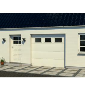 Garageport med RF elementer med vinduer