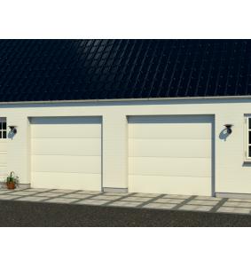 Dobbelt garageport med RF elementer