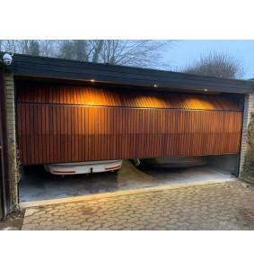 Garageport med egetræslister