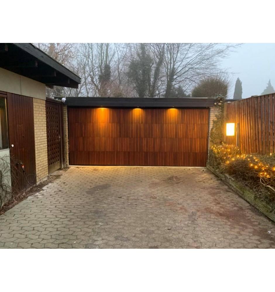 Garageport til private med egetræslister